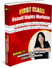 Thumbnail NEW!* First Class Resell Rights Marketer MRR*