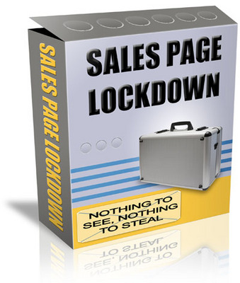Product picture NEW!* Sales Page Lockdown  With PLR*