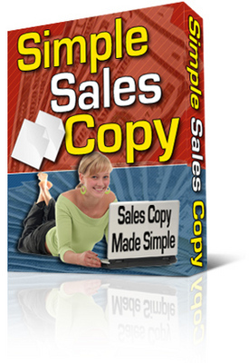 Product picture NEW!*  Simple Sales Copy software program With PLR