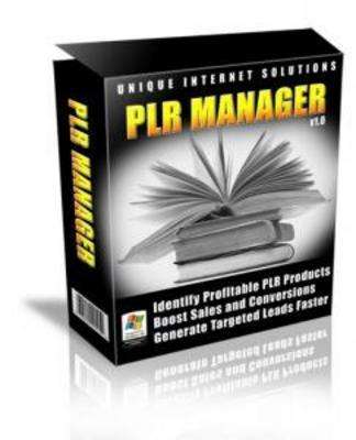 Product picture NEW!* PLR Manager With MRR*